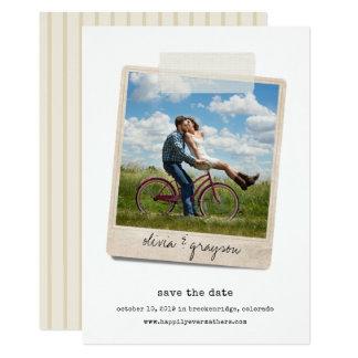 Economias da foto do instantâneo | do vintage o convite 12.7 x 17.78cm