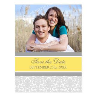 Economias da foto do limão os cartão do casamento