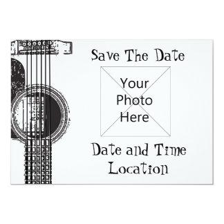 Economias da guitarra acústica a data convite 12.7 x 17.78cm