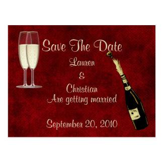 Economias de Champagne a data Cartão Postal
