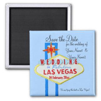 Economias de Las Vegas o azul Wedding da data Ima De Geladeira