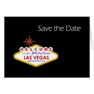 Economias do aniversário de Las Vegas o cartão de