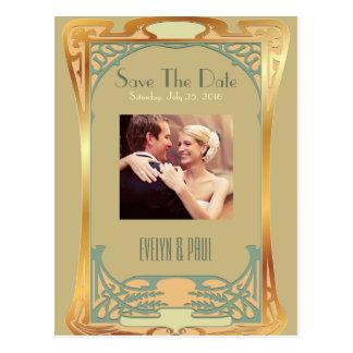 Economias do art deco do vintage o ~ Gatsby da Cartão Postal