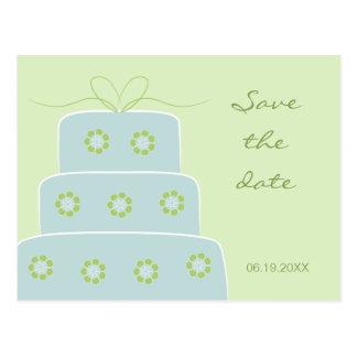 Economias do bolo de casamento o cartão da data