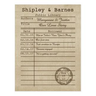 Economias do cartão de biblioteca do vintage a