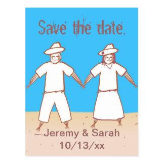 Economias do casal do espantalho os cartão da data cartões postais