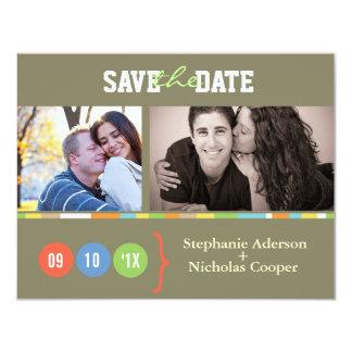 Economias do casamento da foto a data convite