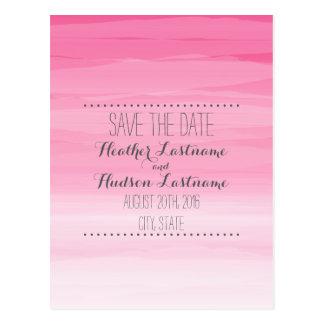 Economias do casamento de Ombré do rosa quente a Cartão Postal