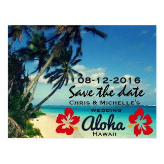 Economias do casamento de praia de Havaí os cartão