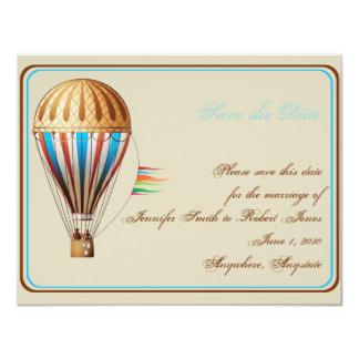 Economias do casamento do balão de ar quente do convite 10.79 x 13.97cm