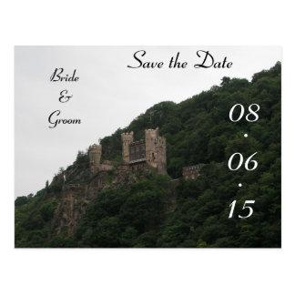 Economias do casamento do castelo a data cartão postal
