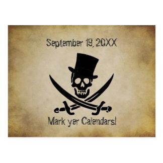 Economias do casamento do pirata o cartão da data