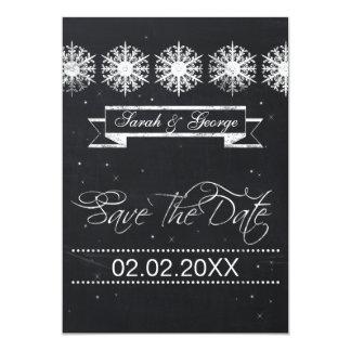 economias do casamento no inverno do quadro dos convite 12.7 x 17.78cm