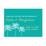 Economias do chique do casamento do verão das palm cartao postal