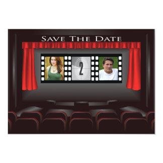 Economias do cinema o anúncio da data convite 12.7 x 17.78cm