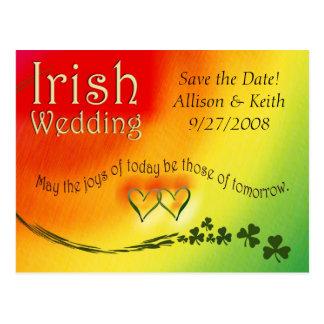 Economias do irlandês o cartão do casamento da