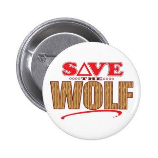 Economias do lobo bóton redondo 5.08cm