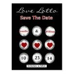 Economias do loto do amor do falso o cartão da dat cartões postais
