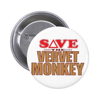 Economias do macaco de Vervet Bóton Redondo 5.08cm