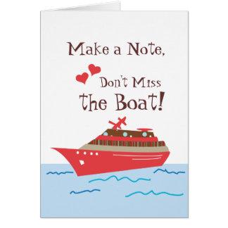 Economias do navio de cruzeiros o cartão de data