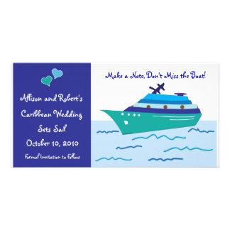 Economias do navio de cruzeiros os cartões com fot cartão com fotos personalizado