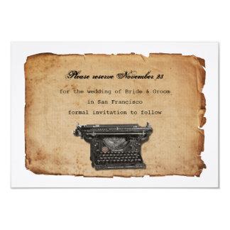 Economias do pergaminho da máquina de escrever do convite 8.89 x 12.7cm