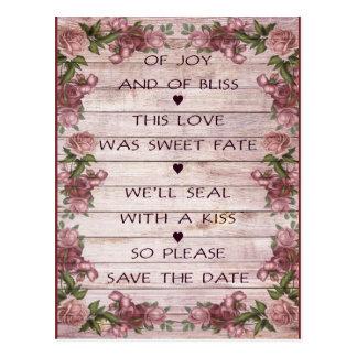 Economias do poema do amor o cartão da data