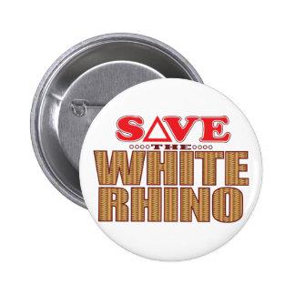 Economias do rinoceronte branco bóton redondo 5.08cm
