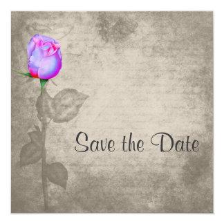 Economias do rosa da cor de ponto de Vintag do Convite Quadrado 13.35 X 13.35cm
