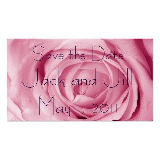 Economias do rosa do algodão doce a data cartões de visita