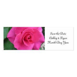 Economias do rosa do rosa a data cartões de visita