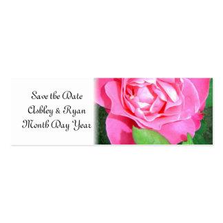 Economias do rosa do rosa quente a data cartao de visita