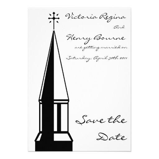 Economias do Steeple da igreja o convite da data