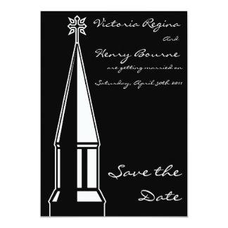 Economias do Steeple da igreja o preto do convite