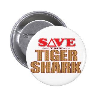 Economias do tubarão de tigre bóton redondo 5.08cm