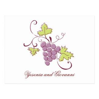 Economias do vinhedo de Tuscan o cartão da data
