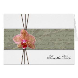 Economias elegantes da orquídea o cartão dobrado
