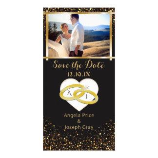 Economias elegantes das alianças de casamento | do cartão