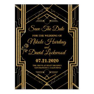 Economias elegantes de Gatsby do art deco o cartão