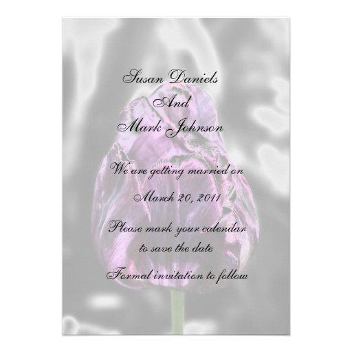 Economias elegantes do casamento da flor da tulipa convites