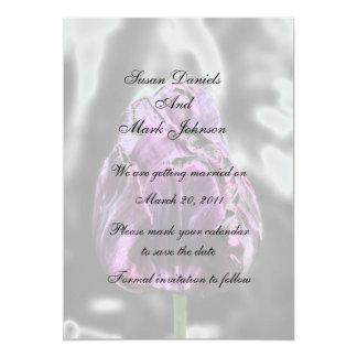 Economias elegantes do casamento da flor da tulipa convite 12.7 x 17.78cm