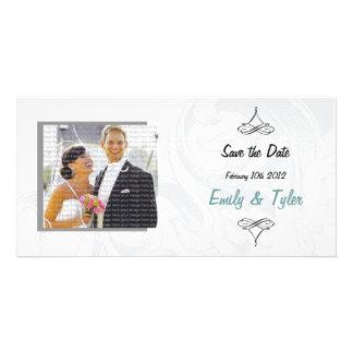 Economias elegantes do casamento do rolo os cartõe cartão com foto