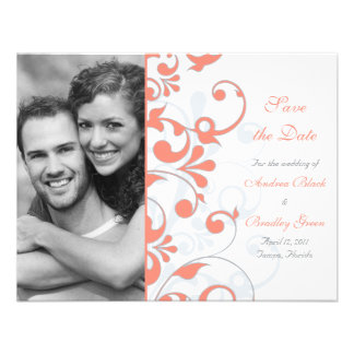 Economias florais abstratas o cartão de data convite personalizado