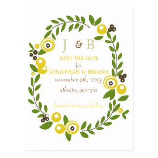 Economias florais da queda amarela os cartão da cartão postal