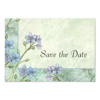 Economias florais do casamento do miosótis a data