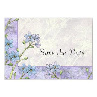 Economias florais do casamento do miosótis a data convites personalizados