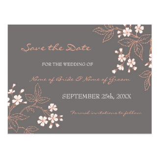 Economias florais do vintage os cartão do casament cartão postal