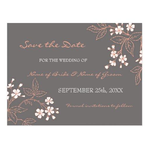Economias florais do vintage os cartão do casament cartões postais