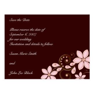 Economias florais modernas o cartão da data
