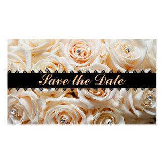 Economias florais o cartão de visita da data
